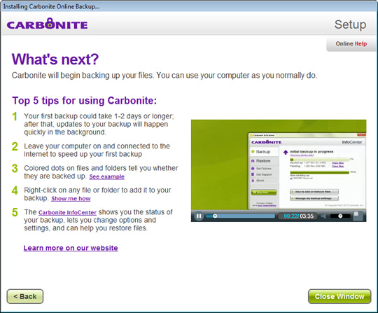 Screenshot of Carbonite 3