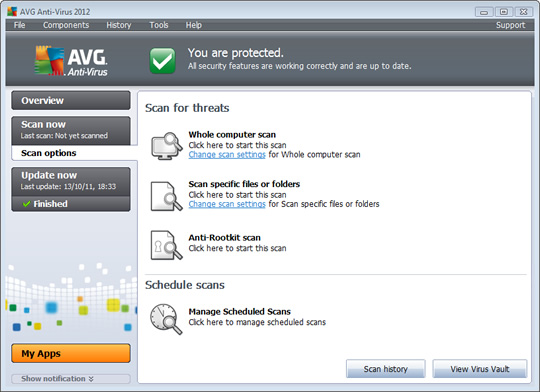Screenshot of AVG AntiVirus 3