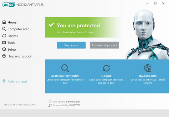 Screenshot of ESET NOD32 Antivirus 1