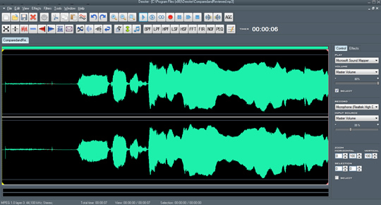 Screenshot of Dexster Audio Editor 1