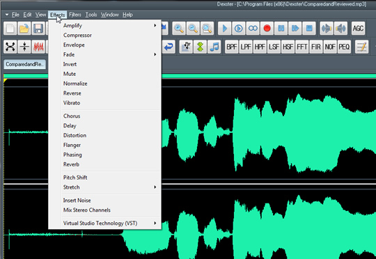 Screenshot of Dexster Audio Editor 2