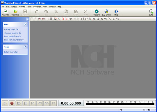 Screenshot of NCH WavePad 1