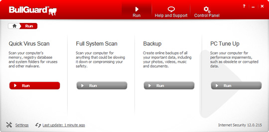 Screenshot of BullGuard Internet Security 2