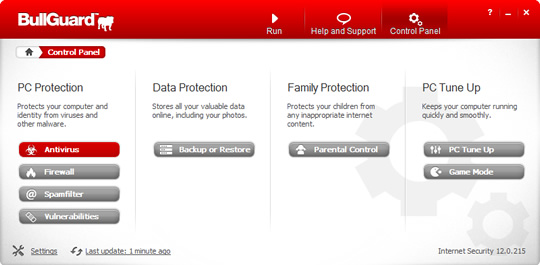 Screenshot of BullGuard Internet Security 3