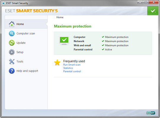 Screenshot of ESET Internet Security 1