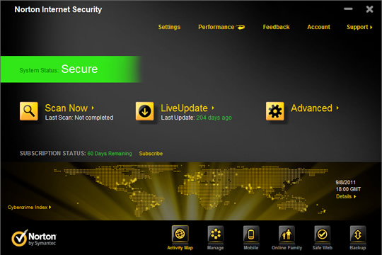 Screenshot of Norton Security Deluxe 1