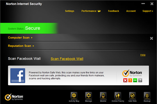 Screenshot of Norton Security Deluxe 2