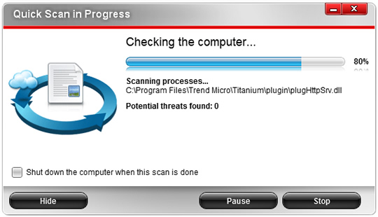 Screenshot of Trend Micro Internet Security 10 3