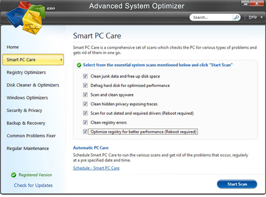 Screenshot of Advanced System Optimizer 2