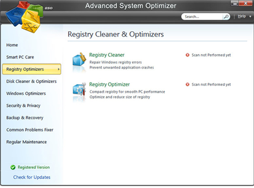 Screenshot of Advanced System Optimizer 3
