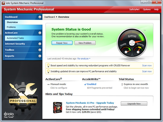 Screenshot of Iolo System Mechanic 1