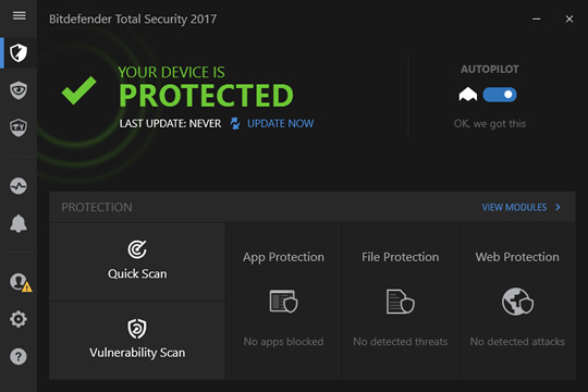 Screenshot of BitDefender Total Security 2017 1