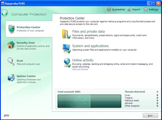 Screenshot of Kaspersky Total Security 2