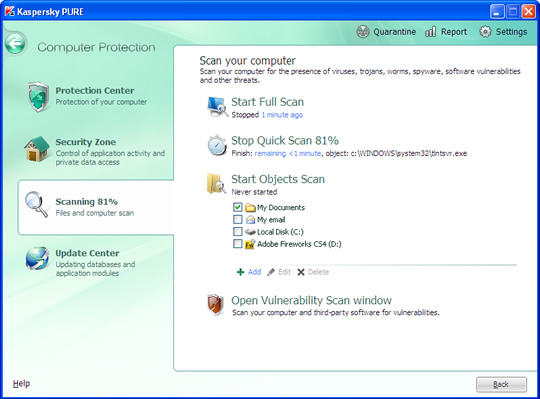 Screenshot of Kaspersky Total Security 3